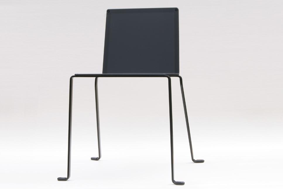 indoor outdoor chair modern minimalist style in steel color black satin