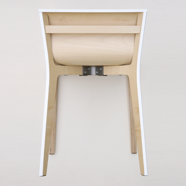 minimalist wooden chair made to birch