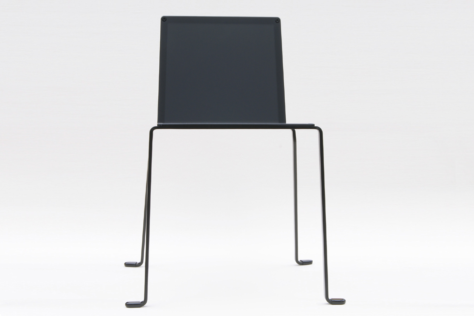 indoor outdoor chair modern minimalist style in steel color black satin